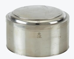 40. a royal german silver holy wafer box, probably carl hessenberg, frankfurt, circa 1780