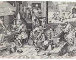 1. after pieter bruegel the elder | the alchemist (bastelaer, hollstein 197; new hollstein 40)