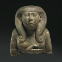 12. a magnesite marble bust of a goddess , 25th dynasty, 750-656 b.c.