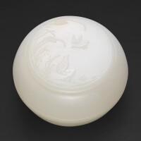 107. a superb white jade 'quail' box and cover qing dynasty, qianlong period |