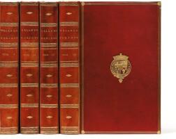 11. arioste. orlando furioso. 1773. 4 vol. in-8, rel. de derome, maroquin rouge aux armes du marquis de stafford.
