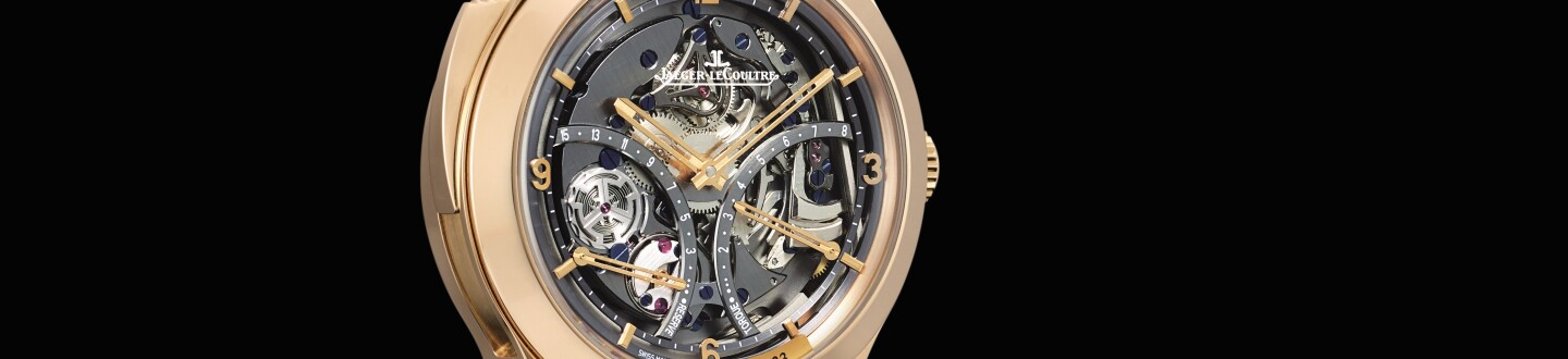 The skeleton dial of a Jaeger-LeCoultre watch in an auction selling jaeger-lecoultre watches