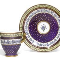 26. a sevres porcelain two-handle cup and stand (goblet etrusque et soucoupe)  