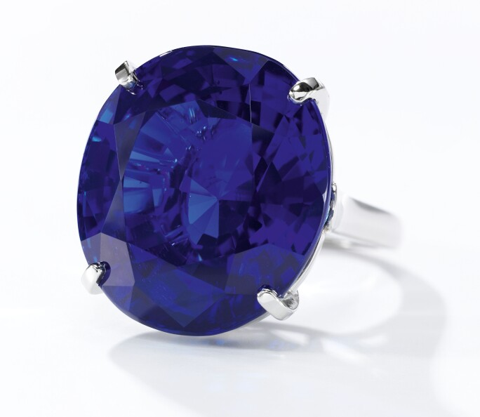 Exceptional sapphire ring, Cartier. Estimate CHF 2,980,000-4,960,000 / US$ 3,000,000-5,000,000.
