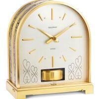 2005. jaeger-lecoultre | gilt brass atmos clockcirca 1970