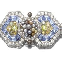 479. fine gem-set and diamond brooch, cartier, 1926