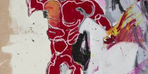 Jean-Michel Basquiat | Untitled (Red Warrior)