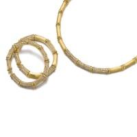 38. gold and diamond parure, 'bamboo', cartier