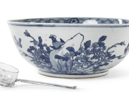 18. a chinese blue and whitepunchbowl |