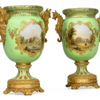 15. a pair of russian porcelain and gilt-bronze vases, period of nicholas i, dated 1845 |