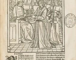 102. lorris et meung. c'est le romant de la rose.... paris [entre 1503 et 1511]. veau brun du xviie siècle.