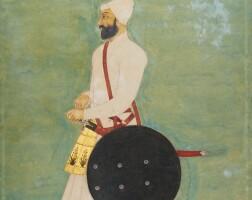 72. a portrait of 'aziz khan, india,mughal, late 17th/early 18thcentury