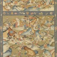 363. a large kesi 'three kingdoms' panel qing dynasty, 19th century