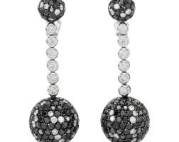 9. pair of diamond earrings, 'boule', de grisogono