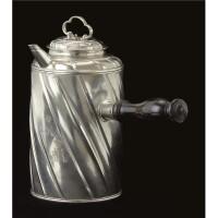 19. a royal baltic silver chocolate pot, probably reval, circa 1790