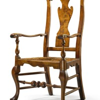 6011. exceptionalqueen anne carved and figured maple armchair, attributed to solomon fussell or william savery, philadelphia, circa 1750