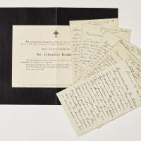 15. [brahms, johannes]--leander schlegel (1844-1913, dutch pianist and composer)