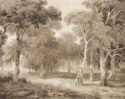 3. alexandre calame | bäume am see