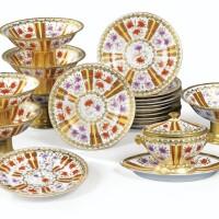 17. partie de service en porcelaine de paris, vers 1850