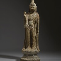 8. an exceptional large limestone figure of a bodhisattva tang dynasty |