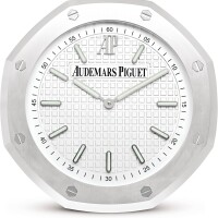 43. audemars piguet | a stainless steel wall clock, circa 2010