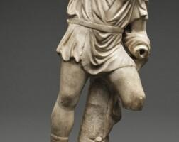 37. a roman marble figure of a hunter, circa 2nd century a.d.   a roman marble figure of a hunter