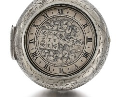 4. salomon chesnon, blois | an interestingand unusual silver pair cased watch with central rotating armorial disc marking thehourcirca 1635