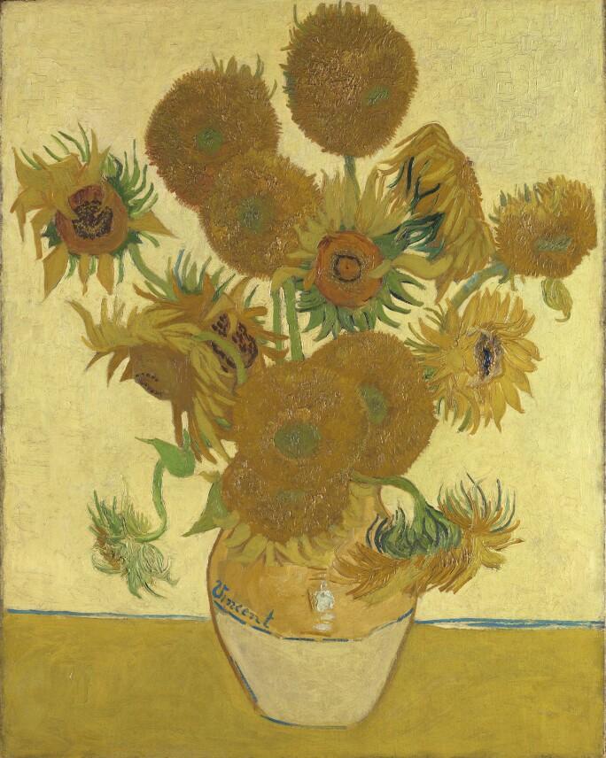 van-gogh-sunflowers-on-yellow-background
