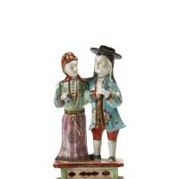 320. a rare chinese export group ofa european couple, qing dynasty, qianlong period, circa 1790 |