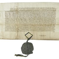 66. letters patent of exemplification concerning frome, somerset, in latin, sealed at westminster on 4 march 1446