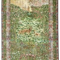 17. a fine kirman pictorial rug, southeast persia