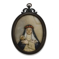 40. an oval italian pietra dura panel 18th/ 19thcentury