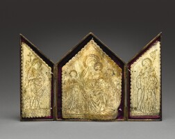 13. probably italian, late 16thcentury | triptych with the virgin and child and attendant saints