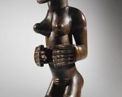 20. chokwe female statue, angola
