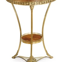 92. a louis xvi ormolu and tulipwood guéridon circa 1785, veneers and stretcher of a later date