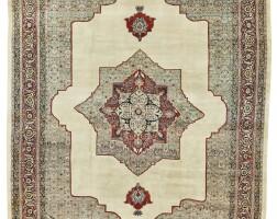 157. a tabriz 'hadji jalili' carpet, northwest persia