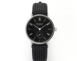 4. nomos | tangentea stainless steel wristwatch with date circa 2007