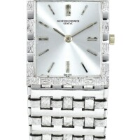 33. vacheron constantin   reference 7186 a white gold bracelet watch, made in 1977