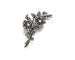 10. diamond brooch, late 19th century