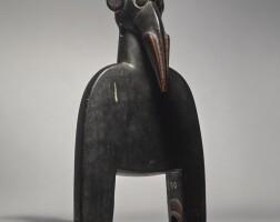 18. senufo avian heddle pulley,côte d'ivoire