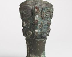 156. a bronze leg from a ritual vessel western zhou dynasty, 11th - 10th century bc