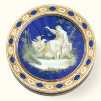 46. a gold and enamel snuff box, pierre-etienne theremin, st petersburg, 1799 |
