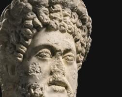 29. a roman marble portrait head of emperor commodus, egypt, circa 185–192 a.d.   a roman marble portrait head of emperor commodus, egypt