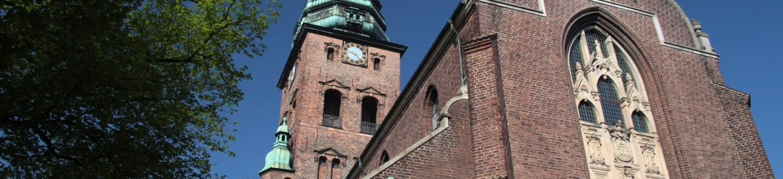 Exterior view of Nikolaj Kunsthal.