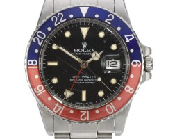 7. rolex | gmt master, reference 16750 stainless steel dual-time wristwatch with date and bracelet circa 1984