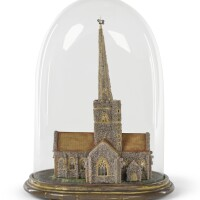 25. a victorian architectural model of st. john the baptist,shottesbrooke park, late 19th century |