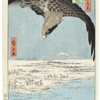 5. utagawa hiroshige i (1797–1858)fukugawa susaki jumantsubo (fukugawa susaki jumantsubo) edo period, 19th century | fukugawa susaki and jumantsubo (fukugawa susaki jumantsubo), from the series one hundred famous views of edo (meisho edo hyakkei), edo period, circa 1857