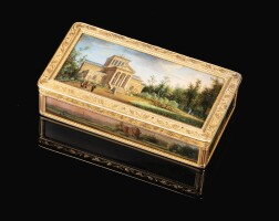 42. a gold boîte à miniatures, adrien-jean-maximilien vachette, paris, 1798-1809 |