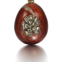 302. a jewelled enamel egg pendant, circa 1895