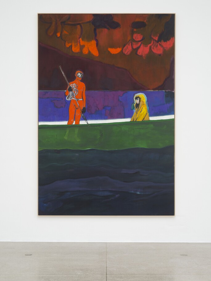 Installation view of Spearfisher (Red Moon), 2019, at Secession, Vienna